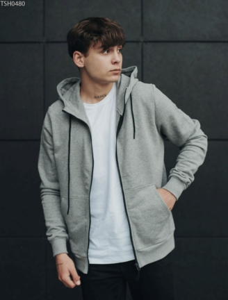 Толстовка Staff zip gray basic