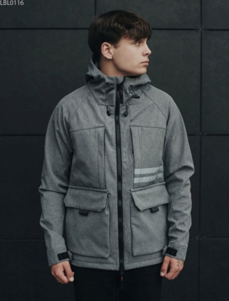 Куртка Staff soft shell gree gray