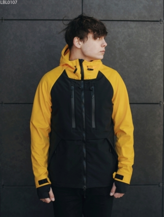 Куртка Staff soft shell kari black & yellow