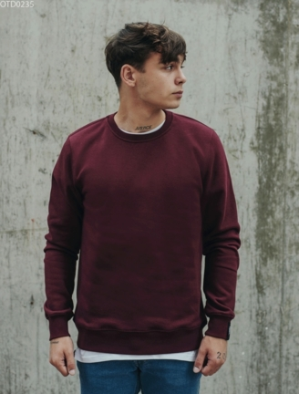 Світшот Staff basic bordo fleece
