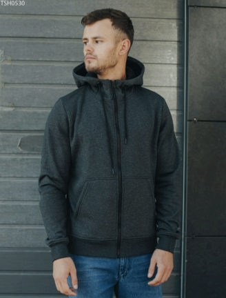 Толстовка Staff zip graphite basic fleece