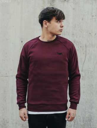 Світшот Staff logo bordo fleece