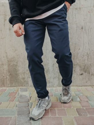 Тёплые штаны чинос Staff navy fleece