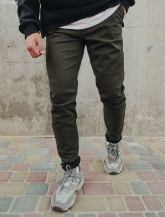 Тёплые штаны чинос Staff khaki fleece