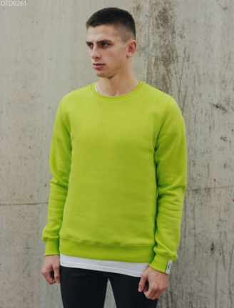 Світшот Staff basic light green fleece