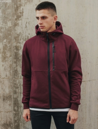 Толстовка Staff zip2 bordo fleece