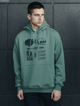 Толстовка Staff label haki fleece