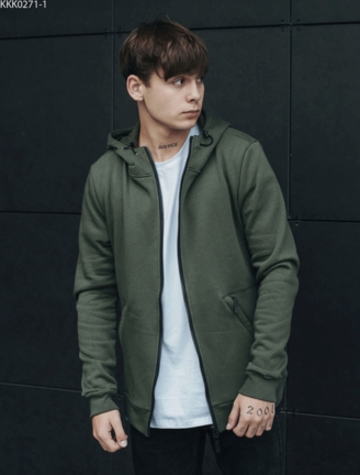 Толстовка Staff zip2 khaki basic fleece