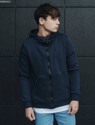 Толстовка Staff zip2 navy basic fleece