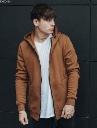 Толстовка Staff zip2 brown basic fleece