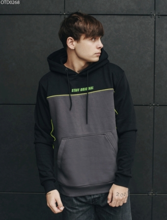 Толстовка Staff black & gray fleece