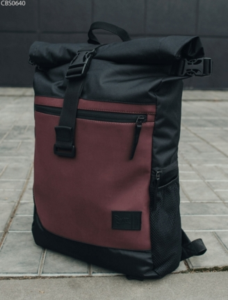 Рюкзак Staff 35L roll black & bordo