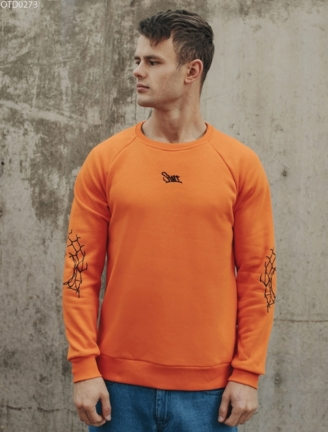 Свитшот Staff orange grid fleece