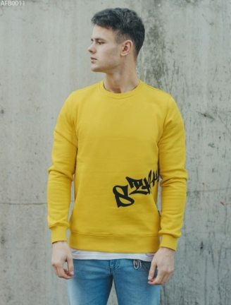 Свитшот Staff yellow logo fleece