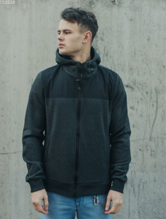 Толстовка Staff zip graphite & black fleece
