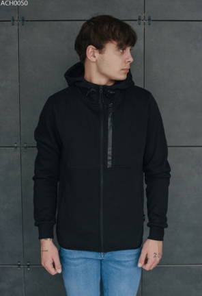 Толстовка Staff zip2 black fleece