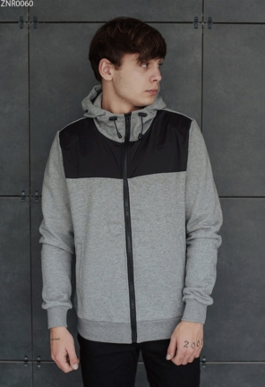 Толстовка Staff zip gray and black fleece