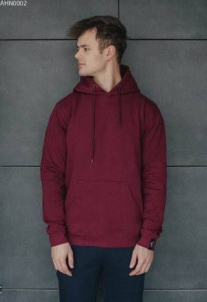 Толстовка Staff bordo basic fleece
