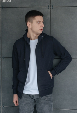 Толстовка Staff navy basic zip