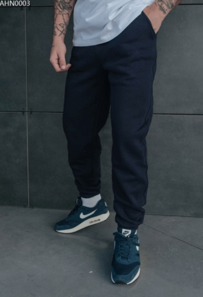 Спортивні штани Staff navy basic fleece