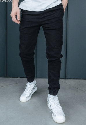 Джоггеры Staff jeans black slim