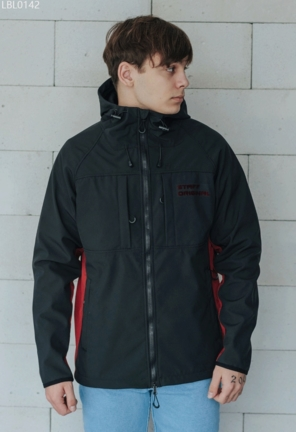 Куртка Staff soft shel black & bordo