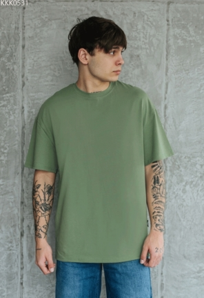 Футболка Staff green basic oversize