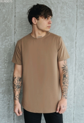 Футболка Staff long basic brown