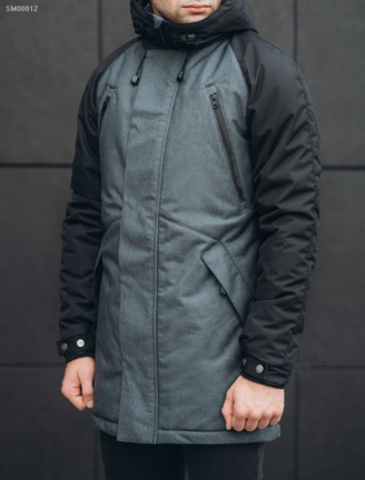 Зимняя парка Staff craft dark gray and black