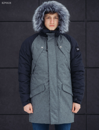 Зимняя парка Staff Flash gray and navy