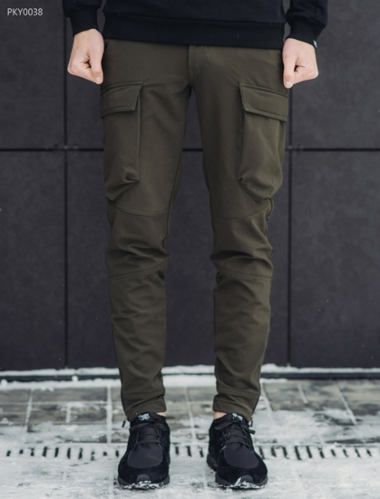 Штаны Staff cargo tactical spandex haki