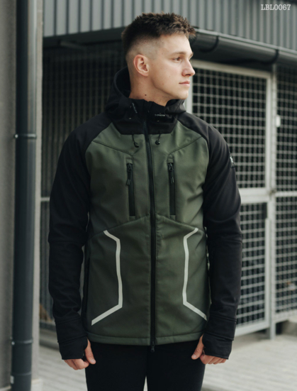 Куртка Staff softshell haki and black