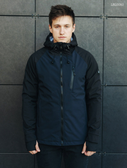 Куртка Staff soft shell Solar navy and black