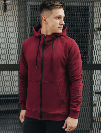 Толстовка Staff bordo zipper basic