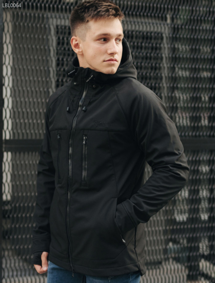 Куртка Staff softshell black