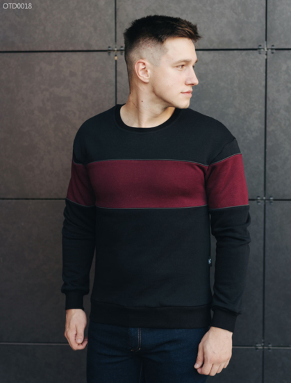 Свитшот Staff two red and black fleece