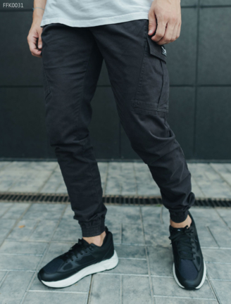 Брюки Staff cargo dark gray modern