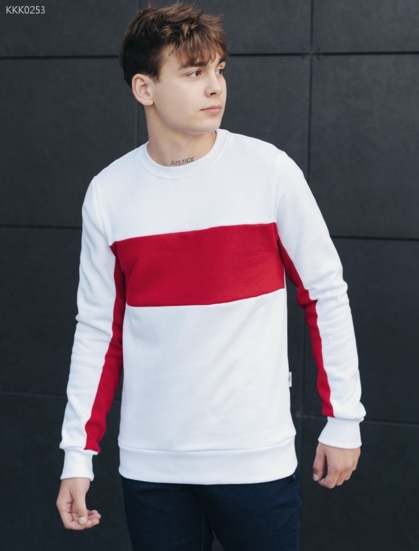 Свитшот Staff red and white logo fleece