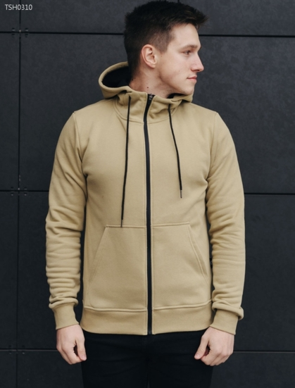 Толстовка Staff beige zipper basic fleece