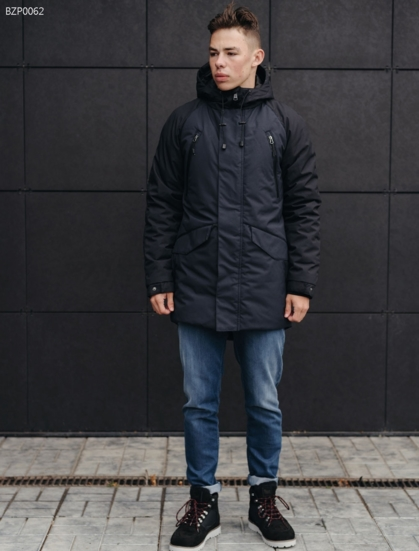 Зимняя парка Staff res black and navy3