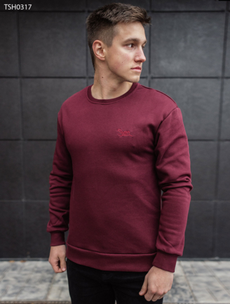 Свитшот Staff dark red logo fleece