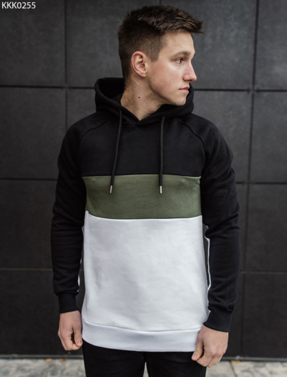 Толстовка Staff white-green-black fleece