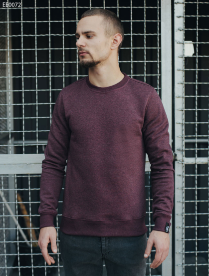 Свитшот Staff bordo melange fleece basic