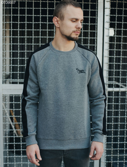 Свитшот Staff gray line logo fleece