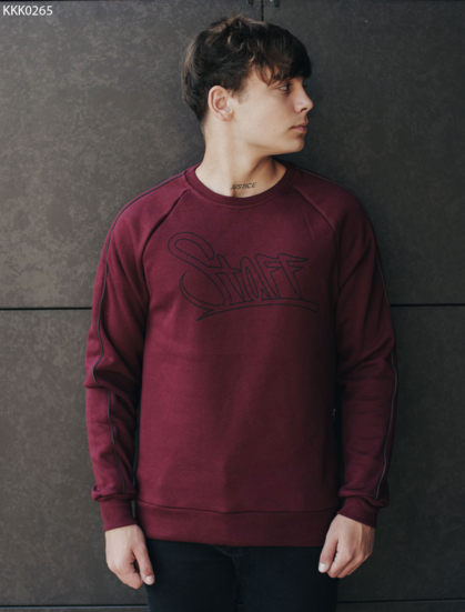 Свитшот Staff bordo logo line fleece