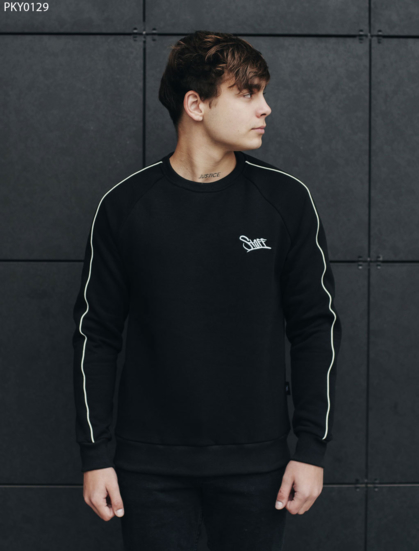 Свитшот Staff line logo black fleece