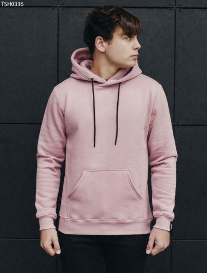 Толстовка Staff dark pink fleece basic