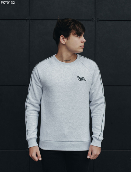 Свитшот Staff line logo gray fleece