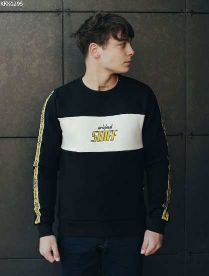 Свитшот Staff original black and yellow fleece