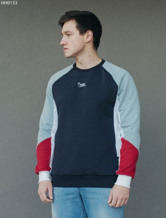 Свитшот Staff color block blue fleece